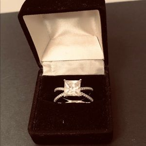 Jewelry - Sterling Silver Square CZ Ring